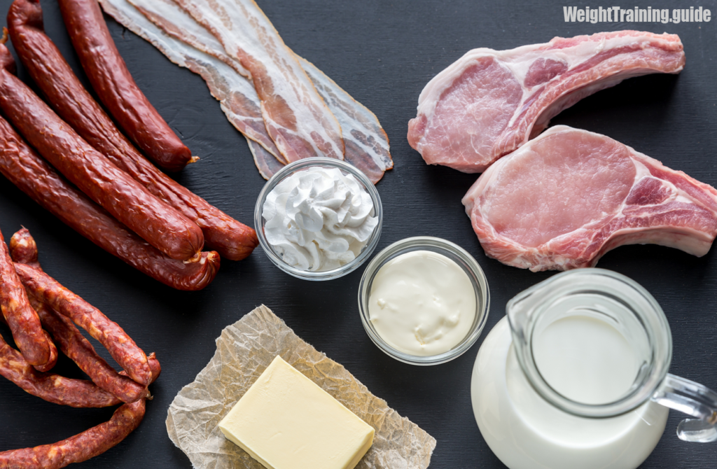 Sources of saturated fat