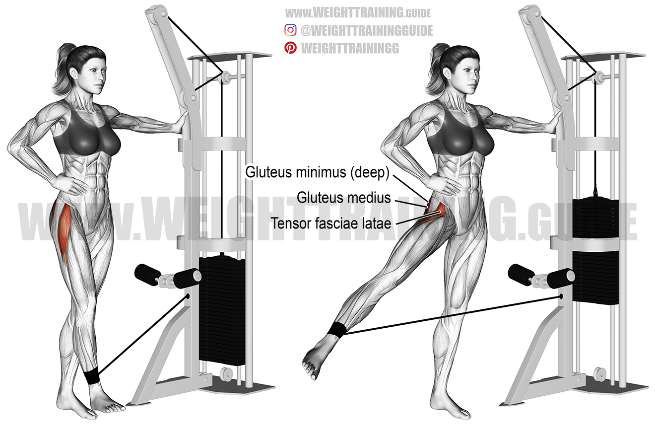 Cable hip abduction exercise