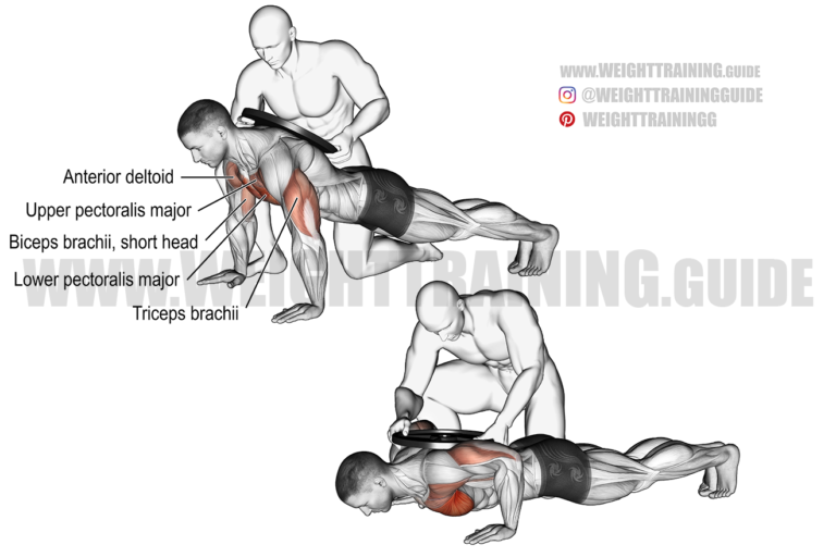 Weighted push-up