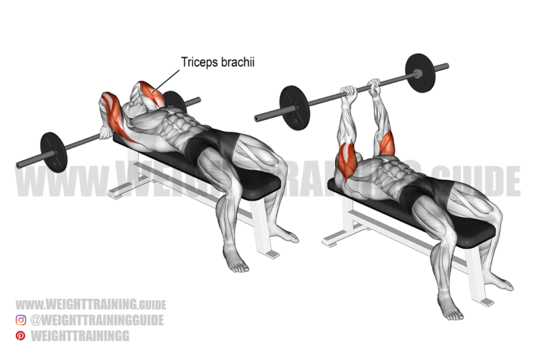 Lying barbell triceps extension