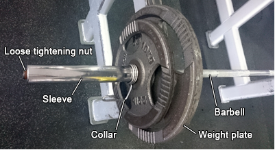 Barbell with loose sleeve