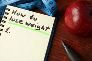 How to lose weight notepad