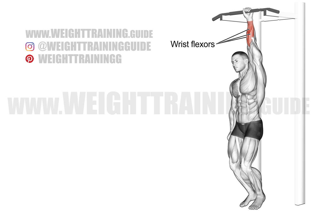 One-arm dead hang exercise