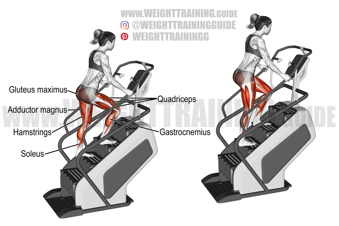 Stairmill climb exercise